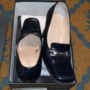 Gucci Vintage Box Heeled Loafers